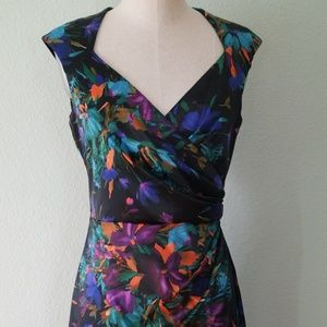 Beautiful Silky London Style Nights Floral Dress
